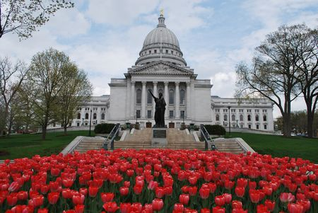 The Capitol building in Madison, Wisconsin