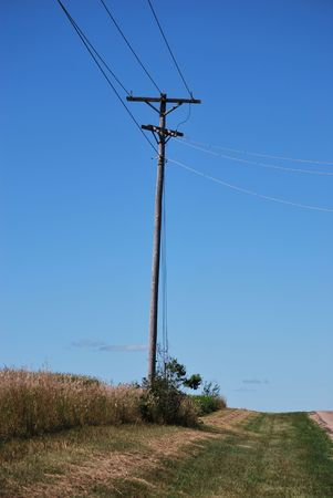 Power Pole In The Country