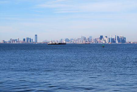 Manhattan And Hoboken Stock Photo