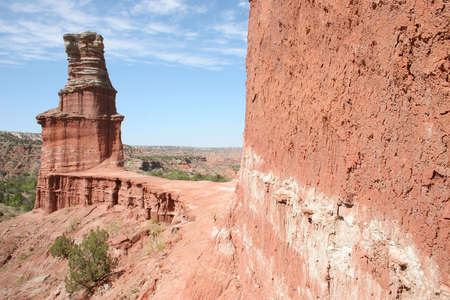 Lighthouse Rock formation in Palo Duro Canyon state park, TX