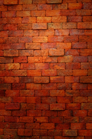 Old red brick wall  photo