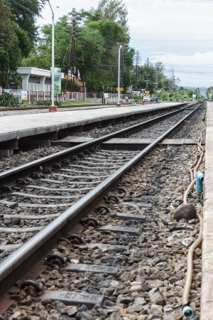 Railway tracks in Thailand  photo