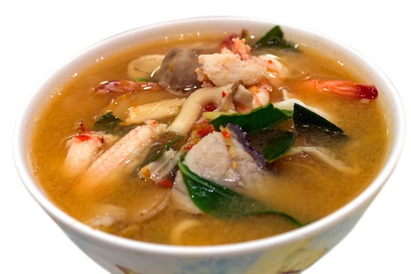 Spicy and sour Mixed Seafood Soup2 Stock Photo - 15361930