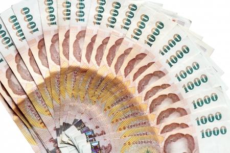 Thai money banknotes isolated on white background Stock Photo - 15958027