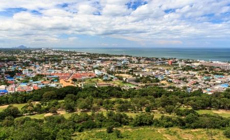 bird s eye view: Bird s eye view of Hua-hin City, Prachuapkhirikhan Province, Thailand  Stock Photo