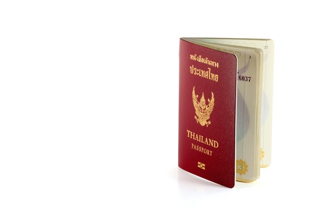 Thailand Official Passport Isolated on White Background  photo