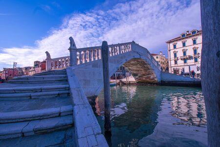 Bridge of Vigo of Sottomarina, in Italy