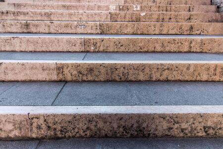 Marble stairs of an Italian bridge in Venice