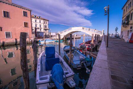 Bridge of Vigo of Sottomarina in Italy