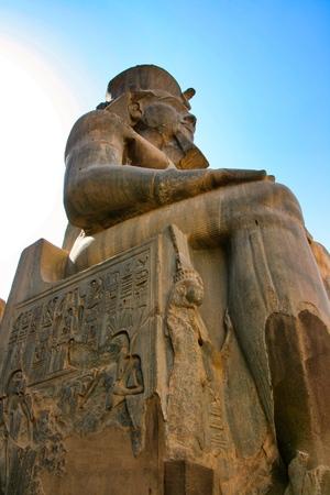Ancient Luxor temple entrance
