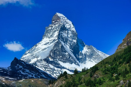 The Matterhorn is a mountain of the Alps Imagens