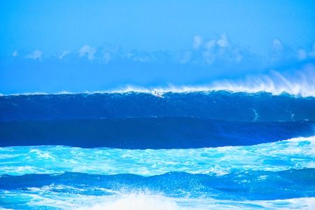 A big wave on the beach at North Shore, Oahu, Hawaii Stock Photo