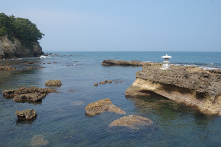 Izura beach (with Japanese Lantern), Ibaraki Prefecture, Japan