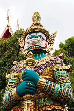 terrify: Figure guardian demon , terrify , in Thai temple
