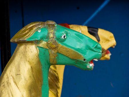 carrousel: Old carrousel horses