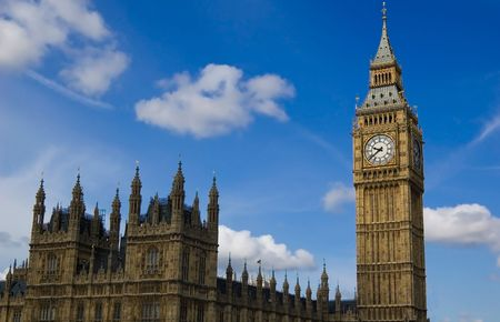 View of the Houses of Parliament and the Big Ben photo
