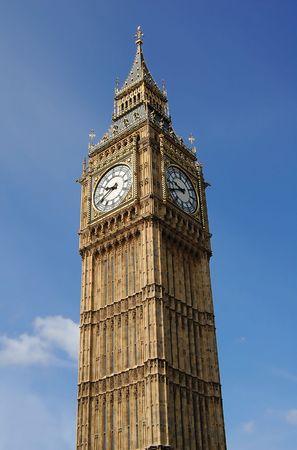 Vertical view of te Big Ben Tower photo