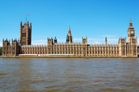 The Houses of Parliament and the Big Ben in a clear day Stock Photo - 3257829
