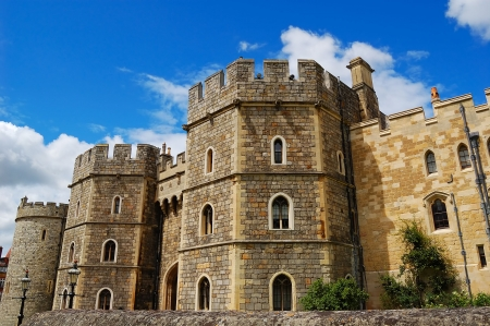 Gates of Windsor Castle in England photo