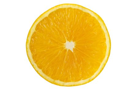 Half an orange isolated on a white background  with clipping path Stock Photo - 3368092