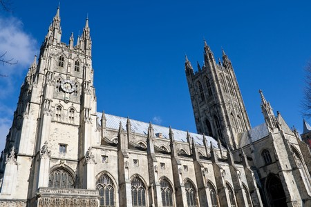 cloudless: The Cathedral of Canterbury in a sunny day