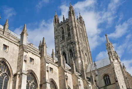 enduring: The Cathedral of Canterbury in a sunny day