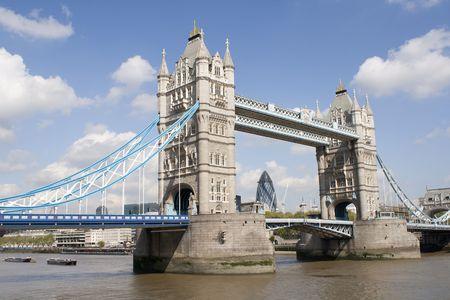The Tower bridge in London, a victorian landmark photo
