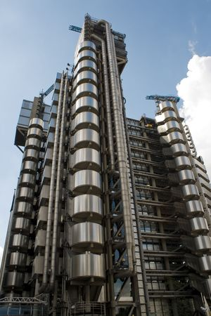 outrageous: Futuristic office building in London Stock Photo