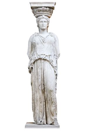 Greek Caryatid or column in a female form photo