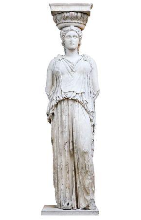 Greek Caryatid or column in a female form