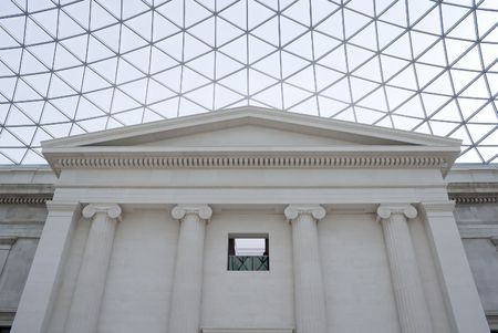 View of the Great Courtand its glass ceiling in the British Museum in London Stock Photo - 5691841