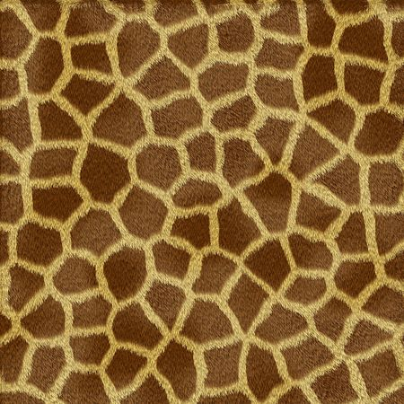 Giraffe fur texture in shades of yellow and brown photo