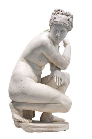 White marble statue of a nude woman Stock Photo - 5765361