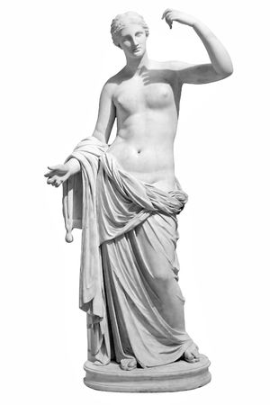 Ancient marble statue of Venus isolated on white Stock Photo - 5892093