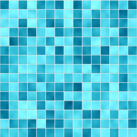 Small tiles texture in different shades of blue photo