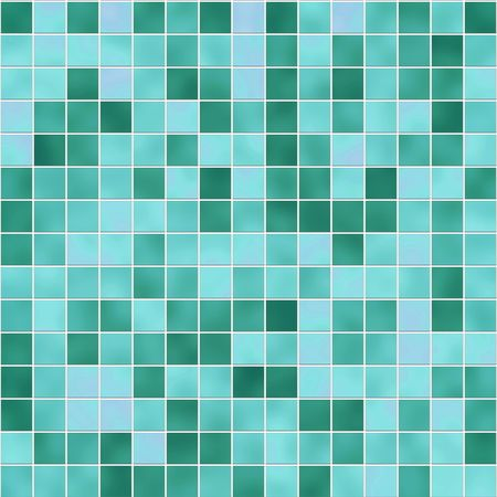 Small tiles texture in diferent shades of green photo