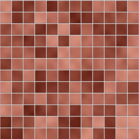 Small  tiles texture in different shades of brown photo