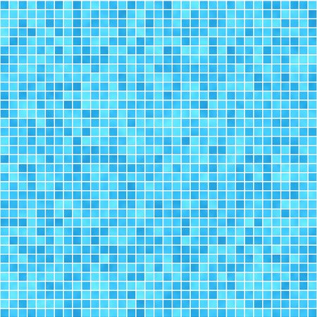 Very small square tiles in shades of green and blue  photo