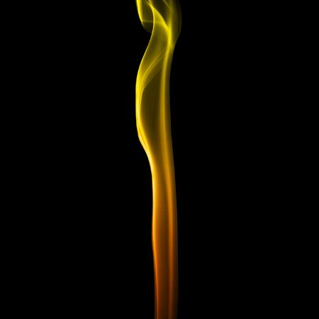 Abstract wave simulating fire in a black background photo