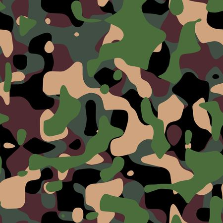 commando: Military camouflage texture  in green and brown shades Stock Photo
