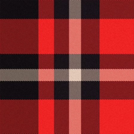 kilt: Realistic tartan or plaid texture with visible threads in bright colors Stock Photo