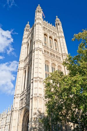 Victoria Tower in the Houses of Parliament in London in a clear day Stock Photo - 6288626