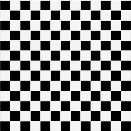 Seamless black and white checkered tiles texture photo