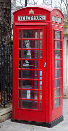 A traditional London red phone booth Stock Photo - 6354780