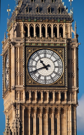 Close up shot of the Big Ben clock in London photo
