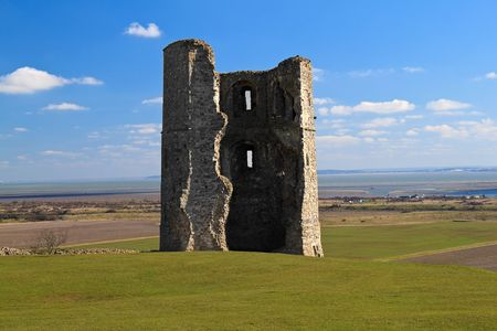 essex: Ruins of an Hadleigh Castle in Essex, England on a clear day