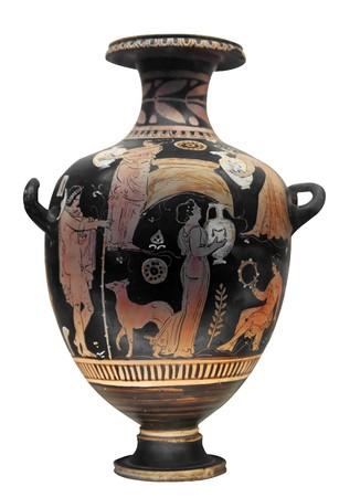 vasi greci: Vaso greco antico, isolata on white  Archivio Fotografico