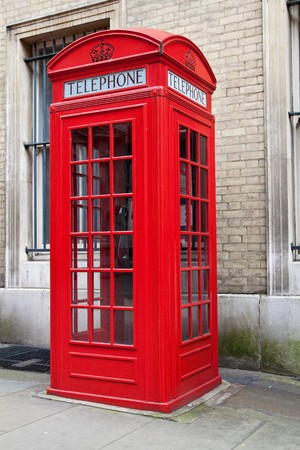 A typical red London phone cabin photo