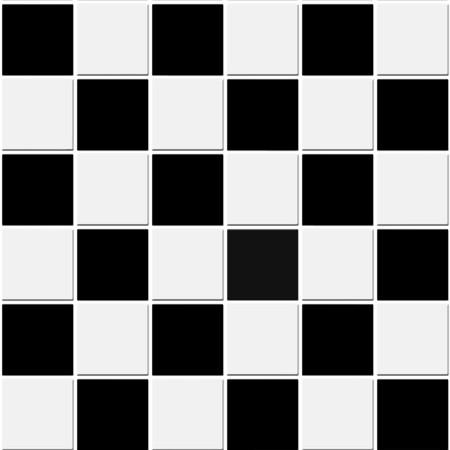 tegelwerk: Naadloze zwarte en witte Geruite tegels patroon