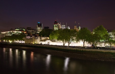 The Tower of London and the City at night photo